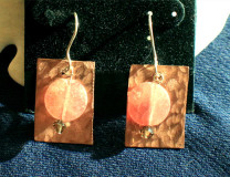 Copper and Muscovite Earrings