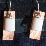 Copper and Pink Earrings